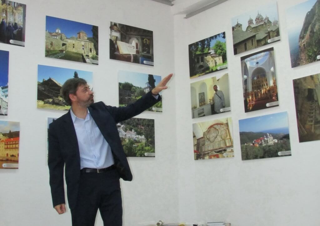Уникальная выставка, знакомящая с таинственным миром Святой Горы Афон, открылась на Киевщине