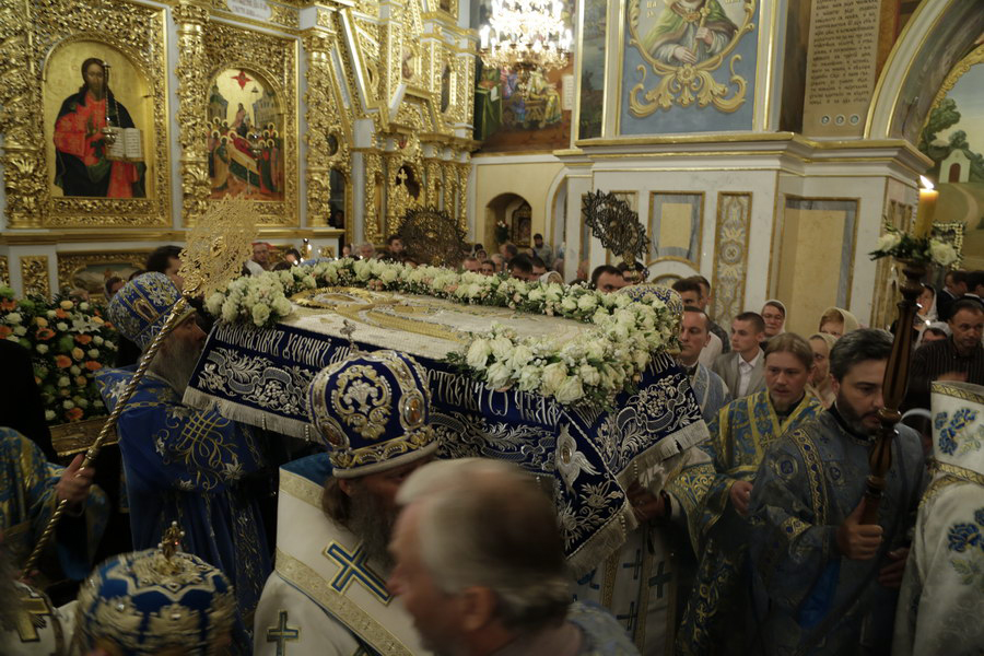 Наследование афонских традиций в чине Погребения Богородицы в Киево-Печерской Лавре